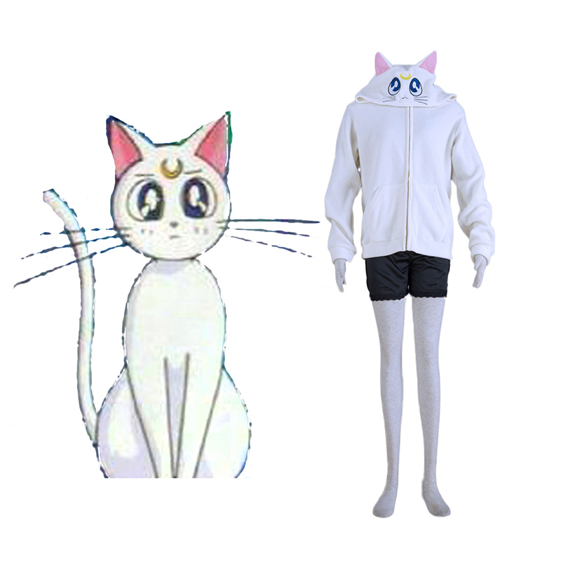 Sailor Moon White Cat Artemis Cosplay Puvut Suomi