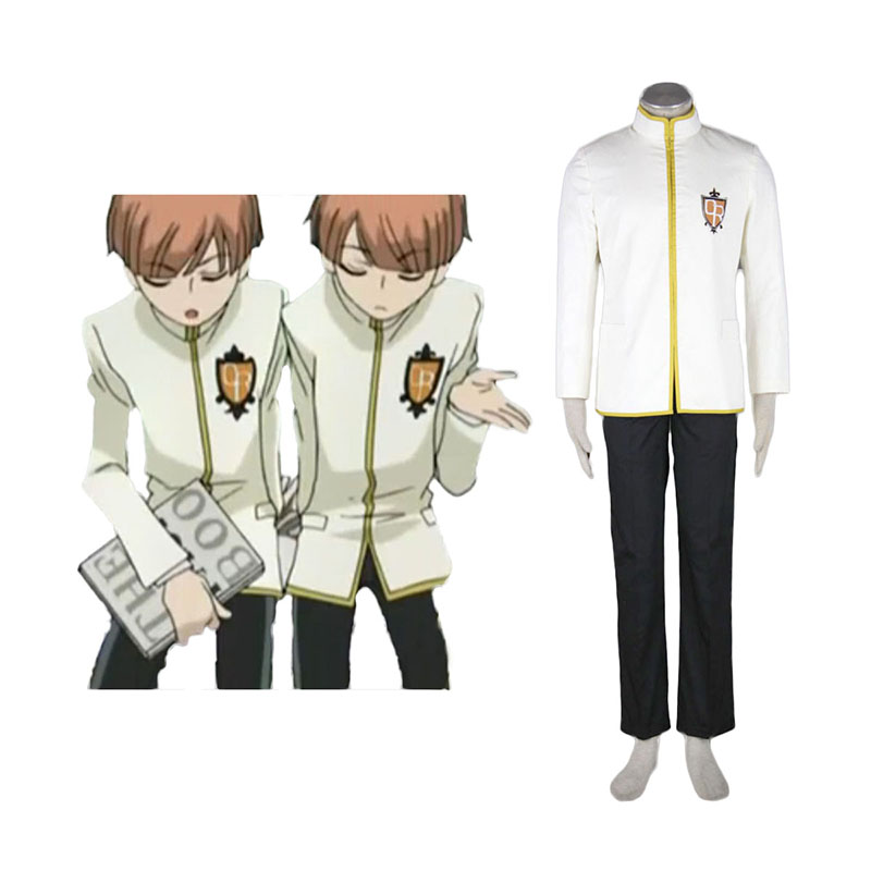 Ouran High School Host Club Male Työvaate Yellow Cosplay Puvut Suomi