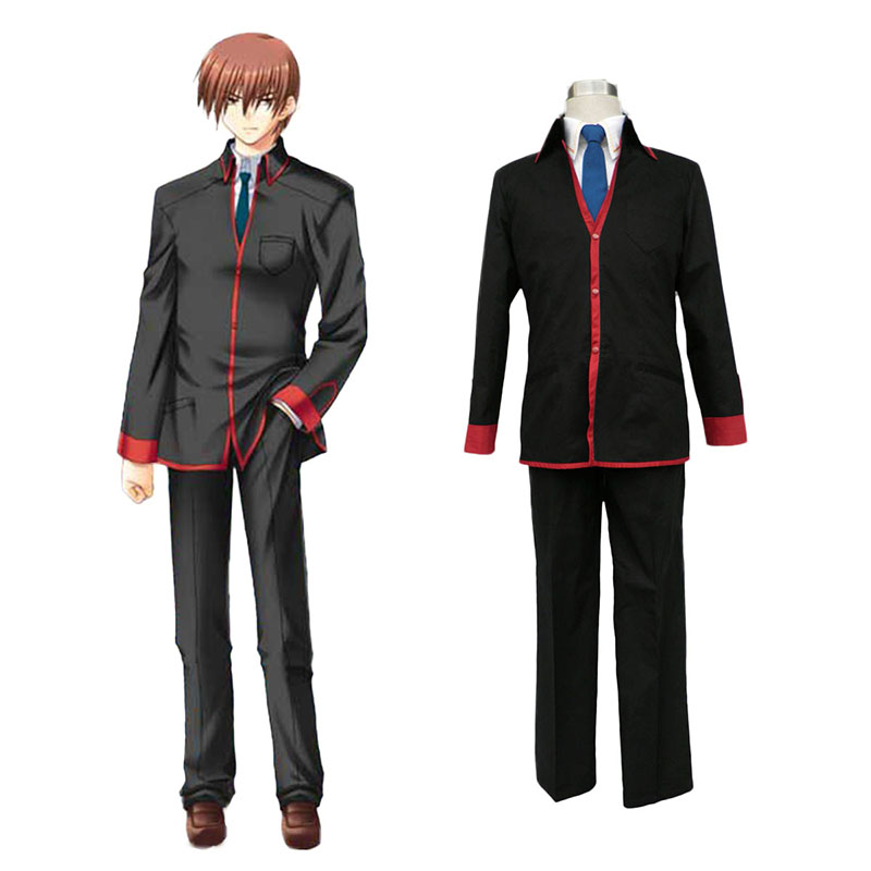 Little Busters Male School Työvaate Cosplay Puvut Suomi
