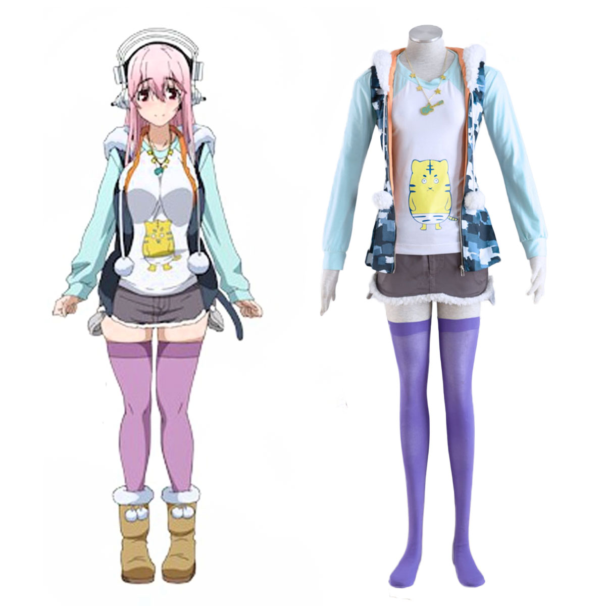 Soni-Ani:Super Sonico the Animation Super Sonico 1 Cosplay Puvut Suomi