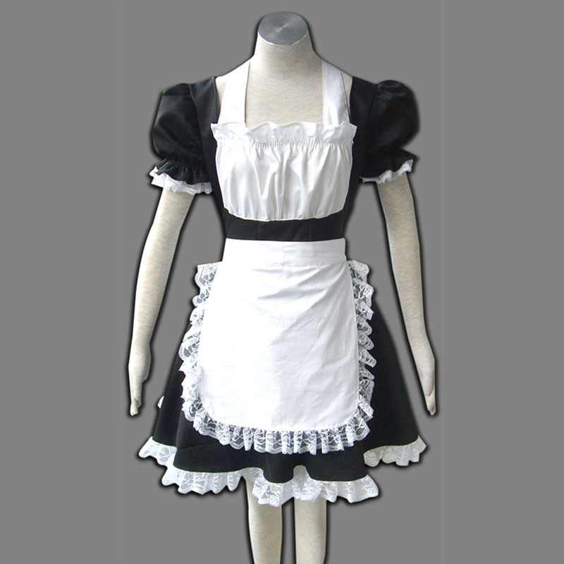 Maid Työvaate 2 Musta Winged Angle Cosplay Puvut Suomi