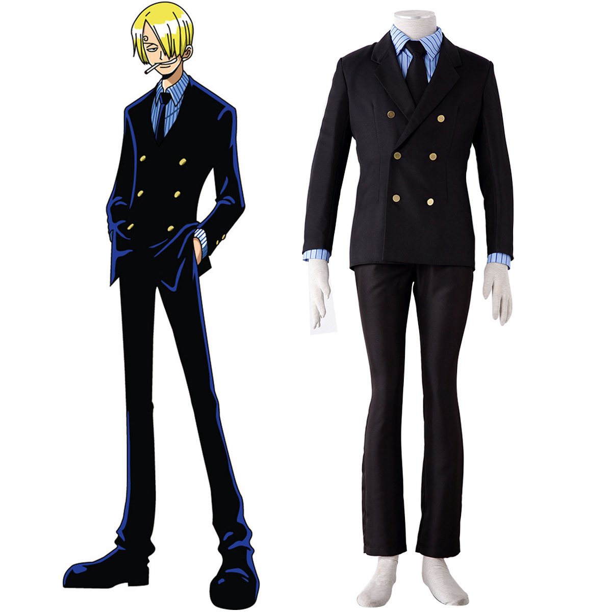 One Piece Sanji 1 Cosplay Puvut Suomi