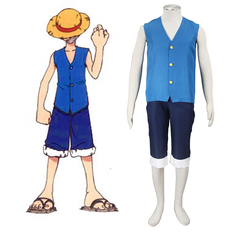 One Piece Monkey D. Luffy 2 Sininen Cosplay Puvut Suomi