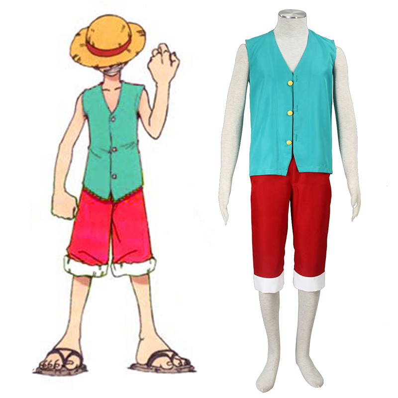 One Piece Monkey D. Luffy 3 Green Cosplay Puvut Suomi