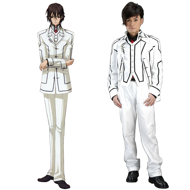 Vampire Knight Night Class White Male School Työvaate Cosplay Puvut Suomi