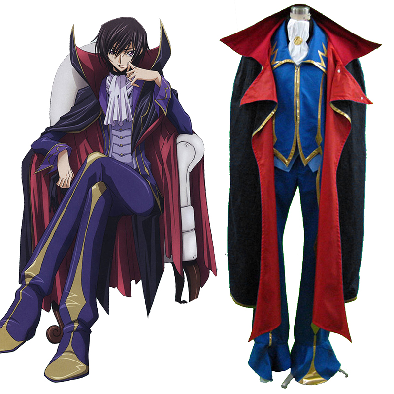 Code Geass Lelouch Lamperouge ZERO 2 Cosplay Puvut Suomi