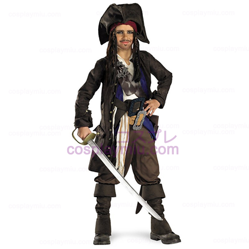Pirates of the Caribbean - Captain Jack Sparrow Prestige Child cosplay pukuja