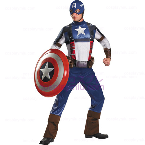 Kapteeni Amerikka Movie - Captain America Deluxe Adult cosplay pukuja
