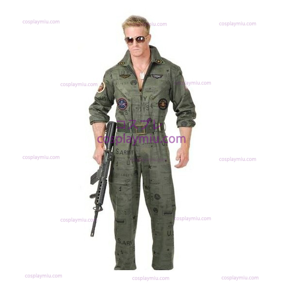 Top Gun Air Force Army Flight Suit Halloween cosplay pukuja
