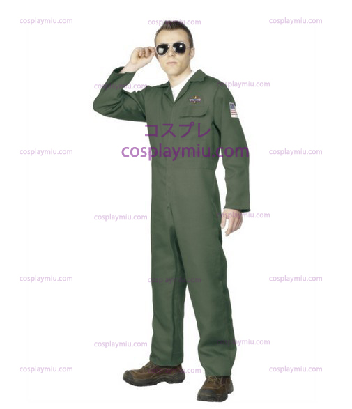 Aikuisten Miesten Aviator Topgun Pilot Fancy Dress cosplay pukuja