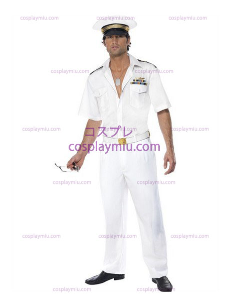 Miestens Top Gun Kapteeni Ilmavoimien Fancy Dress cosplay pukuja