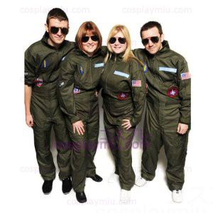 Top Gun cosplay pukuja Party Flight Suit