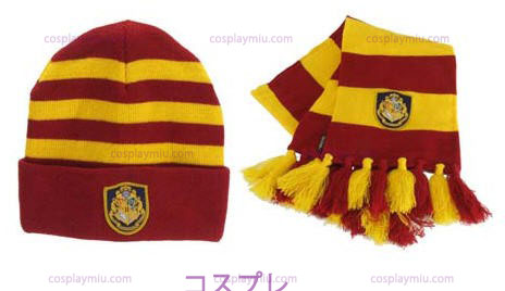 Harry Potter Hogwart'in Knit Hat ja huivi Set