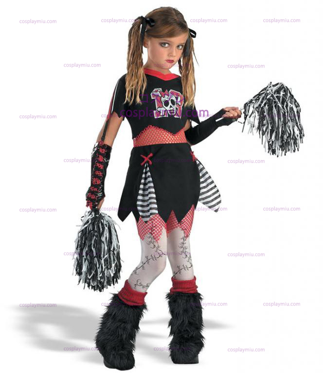 Goth Cheerleader Child cosplay pukuja