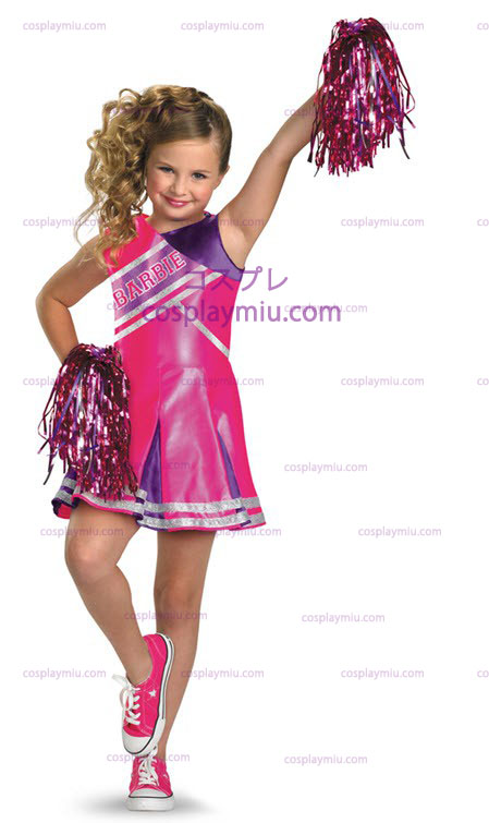 Barbie Cheerleader Child cosplay pukuja