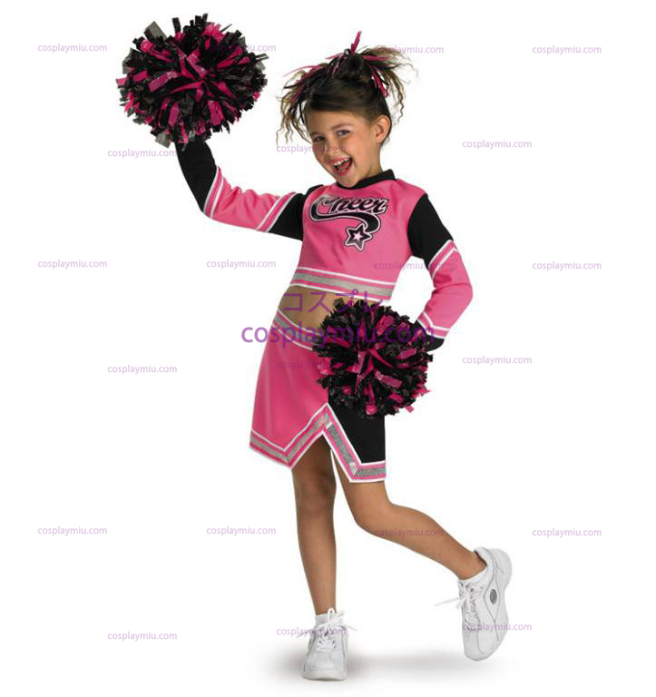 Go Team Pink! Cheerleader Child cosplay pukuja
