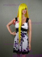 "36"" Canary Yellow Cosplay Wig"