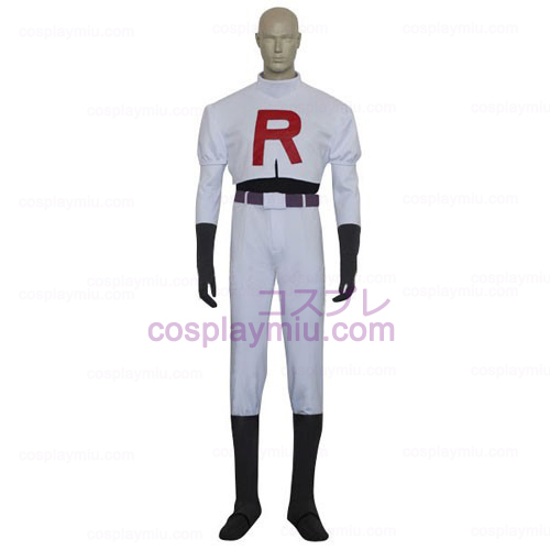 Pokemon Team Rocket James Miesten Cosplay pukuja