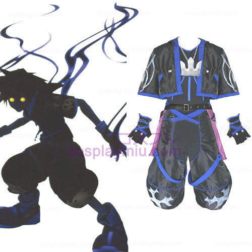 Kingdom Hearts 2 Anti Sora Miesten Cosplay pukuja