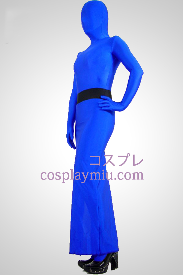 Sininen Full Body Lycra Spandex Dress