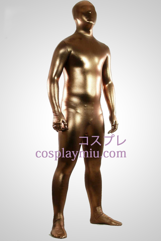 Kahvi Shiny Metallic Zentai Suit