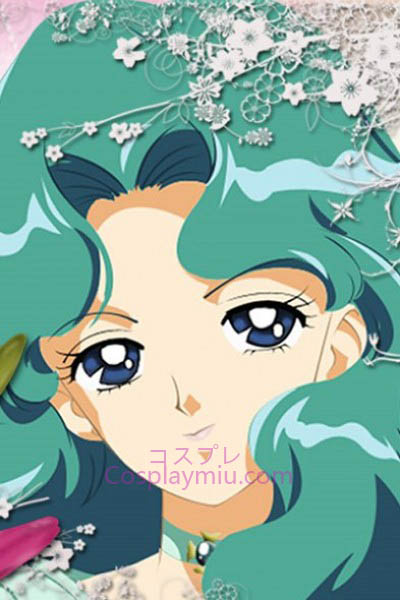 Sailor Moon Kaiou Michiru Sailor Neptune Cosplay peruukki